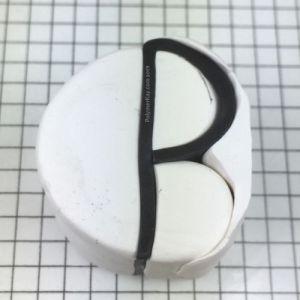 Letter P cane - assemble pieces - KayVincent