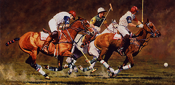"""Strike Force"" ©Kay Witherspoon, 12"" x 24"" oil on linen  (SOLD), canvas giclée prints available"