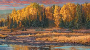 """""""After the Rain""""   18"""" x 32""""   Oil on Linen   © K Witherspoon   SOLD   Limited Edition Canvas Giclée Print $475.00"""