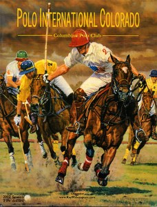 Oil Paintings by western equine artist, Kay Witherspoon, have graced polo event programs across the United States.