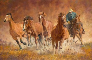 """Renegade"" western cowboy horse art by © K Witherspoon"