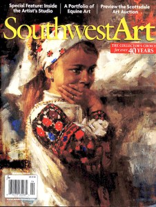 Southwest Art Magazine Feature, April 2017, Kay Witherspoon