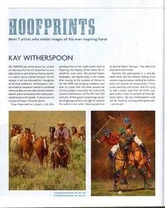 Southwest Art Magazine feature, April 2015