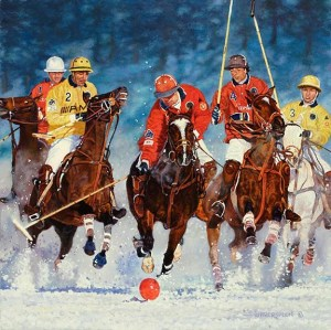 """Snow Polo at St. Moritz"" 