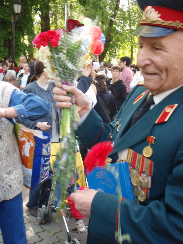 flowers and medals