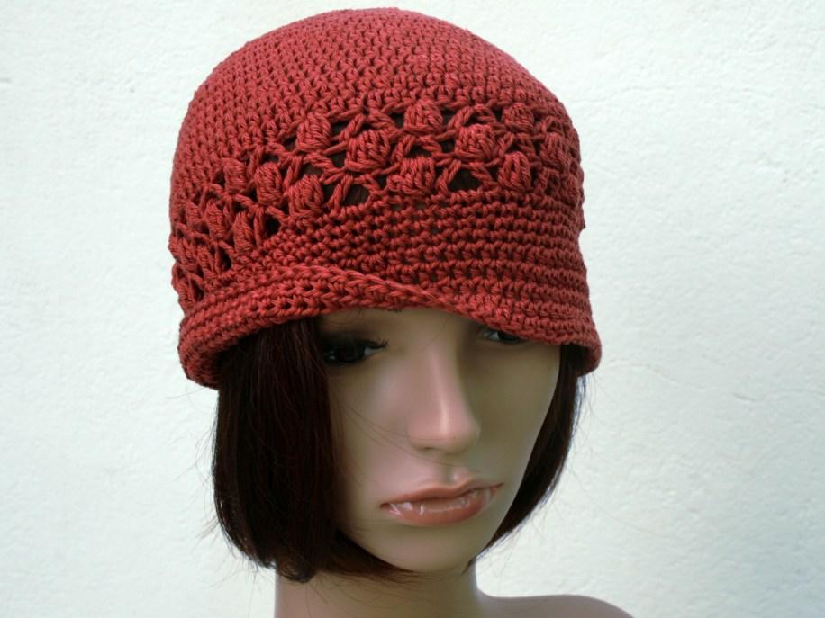 Chapeau vintage bande crochet dentelle
