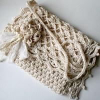 Pochette romantique au crochet... mariée champêtre