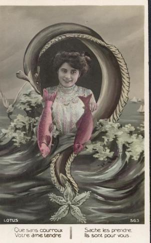 Carte postale ancienne 1er avril début du XXe siècle