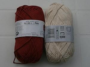 Coton couleur bordeaux et écru