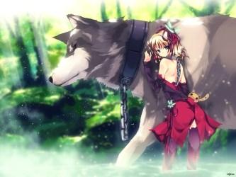 wolf anime refeia collar nature cute animal hair short loup wolves pet pack dog et zerochan wallpapers pixiv riding werewolf