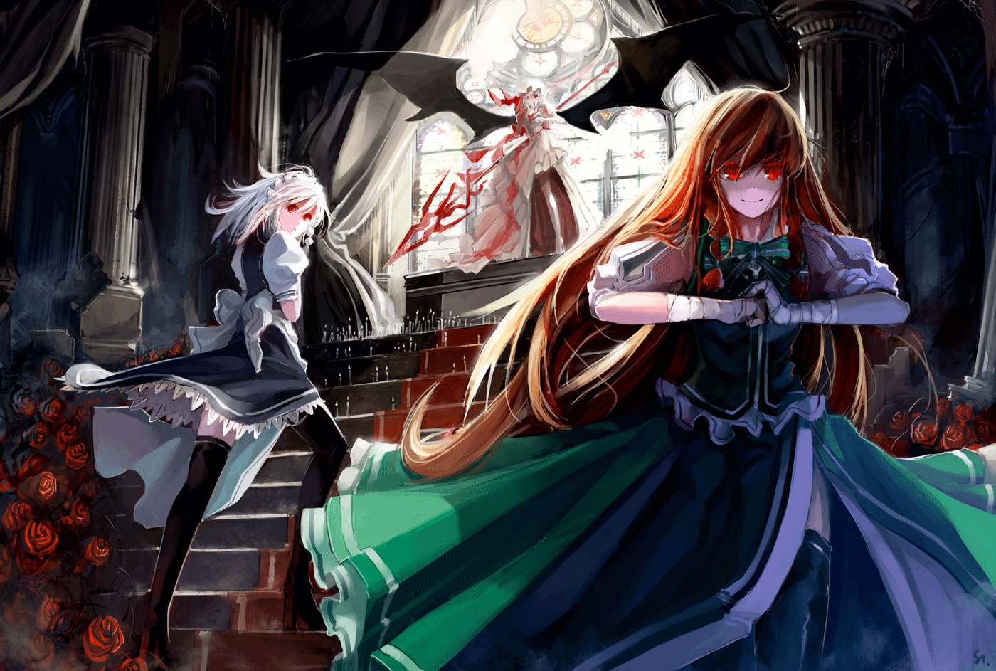 Cute Anime Characters Wallpapers Touhou Wallpaper Pack 08 04 2012