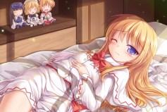 Konachan.com - 187929 bed blonde_hair lily_white luna_child lzh star_sapphire sunny_milk touhou wink