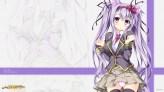 Konachan.com - 186067 animal_ears blush foxgirl headband long_hair panties purple_eyes purple_hair seifuku skirt tagme tateha thighhighs tie underwear watermark zoom_layer