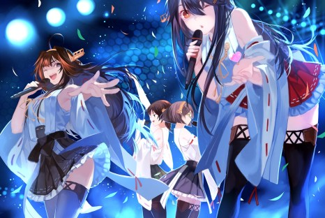yande.re 315987 haruna_(kancolle) hiei_(kancolle) joseph_lee kantai_collection kirishima_(kancolle) kongou_(kancolle) thighhighs