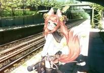 konachan-com-200387-animal_ears-bell-foxgirl-glasses-green_eyes-orange_hair-original-seifuku-shiro_dai_kitsune-skirt-tail-tree-twintails-zettai_ryouiki