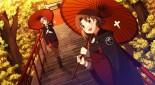 konachan-com-227997-2girls-blush-boots-brown_eyes-brown_hair-gray_hair-kantai_collection-mage-pantyhose-sahuyaiya-short_hair-signed-stairs-torii-tree