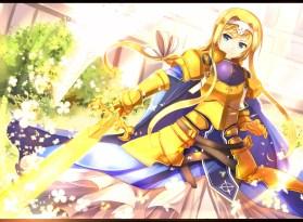konachan-com-177660-alice_schuberg-armor-blonde_hair-blue_eyes-cape-dress-headband-long_hair-sakura_ani-sword-sword_art_online-weapon