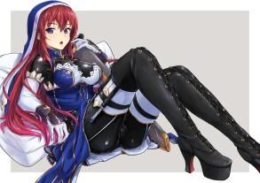 konachan-com-222007-blue_eyes-bodysuit-boots-elbow_gloves-gloves-necklace-original-red_hair-sword-thighhighs-tori_puru0083-weapon