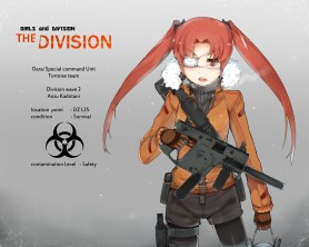 konachan-com-222385-girls_und_panzer-gun-kadotani_anzu-long_hair-pantyhose-red_hair-shorts-tom_clancys_the_division-twintails-weapon