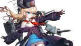konachan-com-223653-anthropomorphism-battleship_girls-blonde_hair-blue_eyes-gloves-hat-quuni-skirt-uniform-weapon