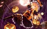 konachan-com-208825-bakanoe-blonde_hair-boots-braids-dress-halloween-hat-kirisame_marisa-long_hair-moon-night-orange_eyes-pumpkin-touhou-witch-witch_hat
