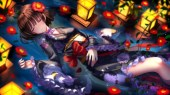 konachan-com-222356-bow-brown_hair-choker-flowers-japanese_clothes-lolita_fashion-mumei_kabaneri-petals-ribbons-short_hair-sleeping-swordsouls-water-yukata