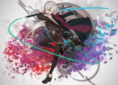 konachan-com-231782-cang_yue_xue_feng-glasses-gray_hair-long_hair-original-pantyhose-ribbons-scarf-skirt-sword-weapon-yellow_eyes