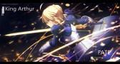 konachan-com-233228-aqua_eyes-armor-blonde_hair-braids-fate_series-fate_stay_night-magicians-ribbons-saber-short_hair-sword-watermark-weapon
