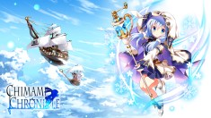 Konachan.com - 239171 airship animal aqua_eyes aqua_hair blush clouds dress kafuu_chino logo loli long_hair rabbit sky tagme_(artist) twintails wild_geese