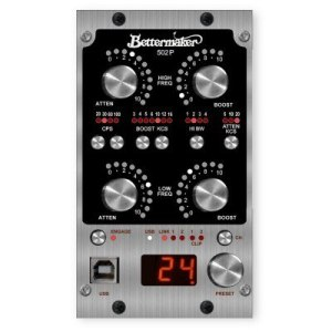 Bettermaker 500 Series digitally controlled stereo Pultec EQ - remote