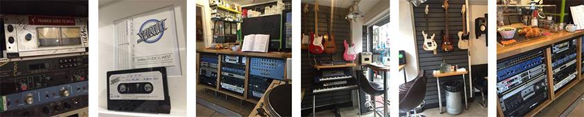 Photo collage of Oat-Milk Café studio