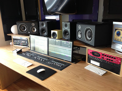Producer Lee McCutcheon mixes Les Miserables soundtrack on Focal SM9's supplied by Kazbar Systems