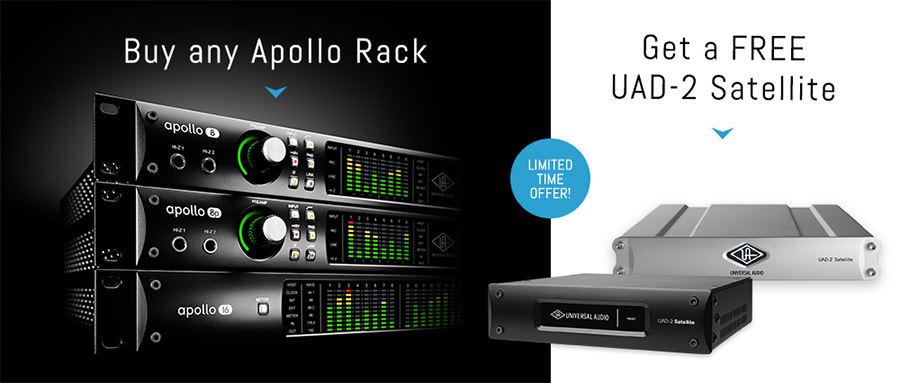 Universal Audio Apollo Rack inc FREE UAD-2 available from Kazbar Systems