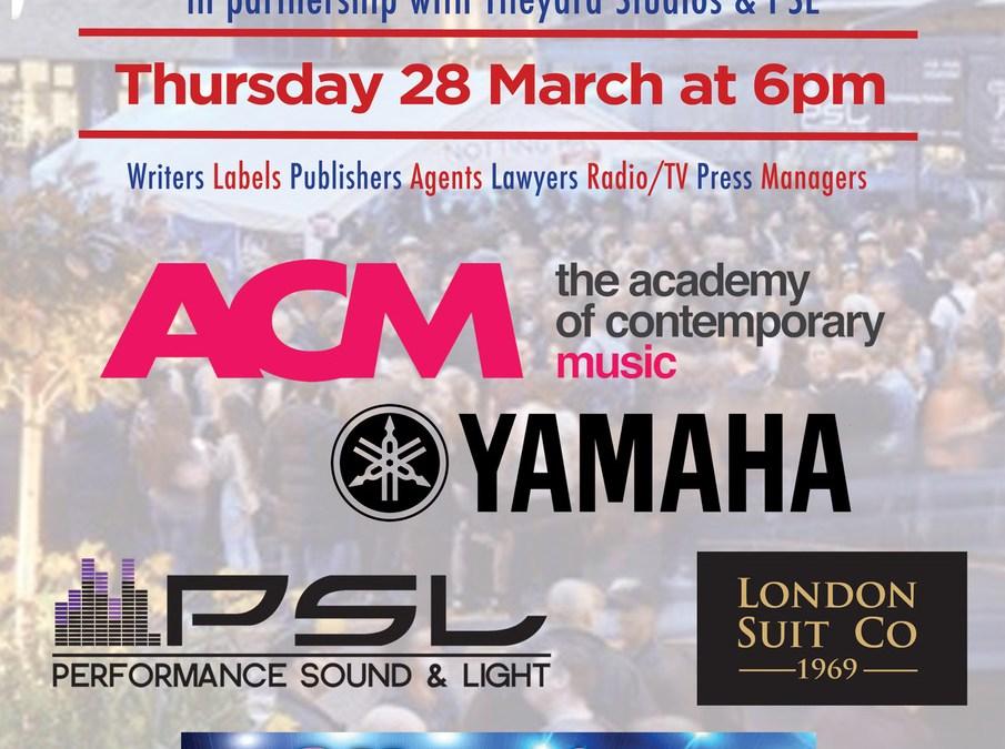 Kazbar Sponsor March Notting Hill Music Networking Night March 28th Tileyard Studios