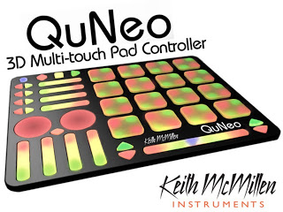 Keith McMillan QuNeo Touch Pad Controller available from Kazbar Systems