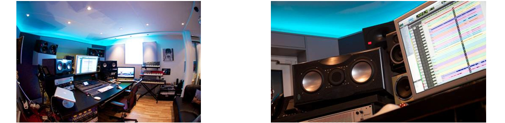James Reynolds Recording Studio total and close-up of Desk