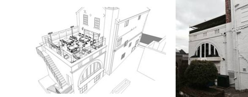 Plan overview Piccolino Bar and Restaurant outside view