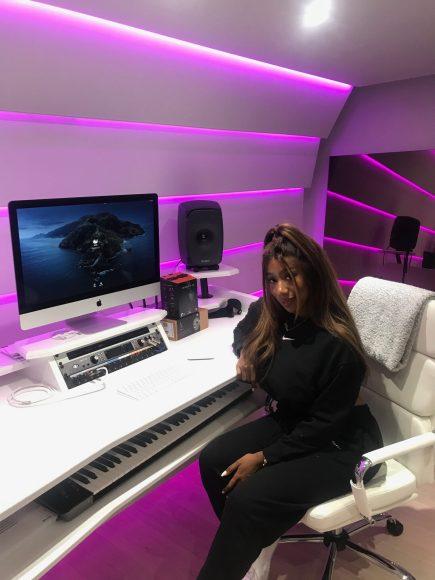 Kamille in her new studio