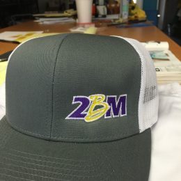Embroidered hats for 2BM made by Kaz Bros Design Shop