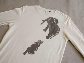 Tシャツ「象の親子」