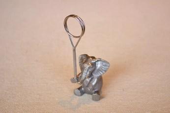 象のカード立て