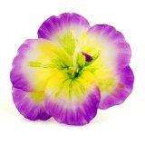 bougie fleur violette et jaune
