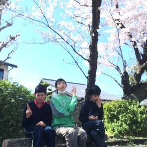 桜とメンバーさん