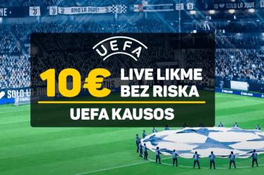 UEFA kausu piedavājums Klondaika kazino