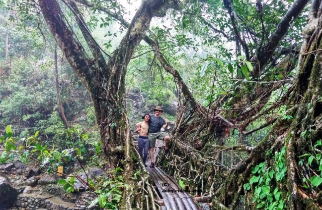 Happy faces at the Double Decker Root Bridge at Nongriat ~ Cherrapunji ~ Meghalaya ~ India