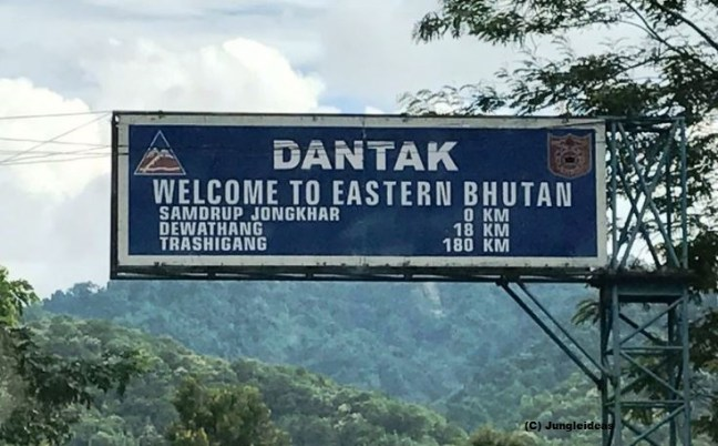 The welcome entry signage to Eastern Bhutan ~ Bhutan