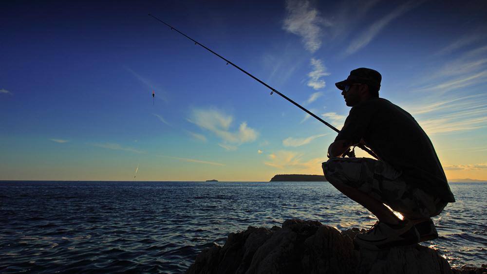 釣りが趣味のだんなさん