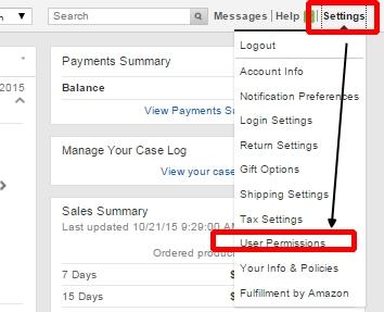 Amazon輸出ユーザー権限の設定方法