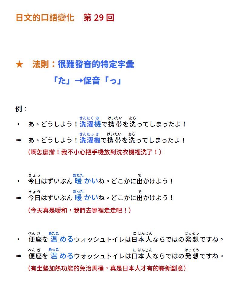 「日文的口語變化!第29回」   音速語言學習(日語)