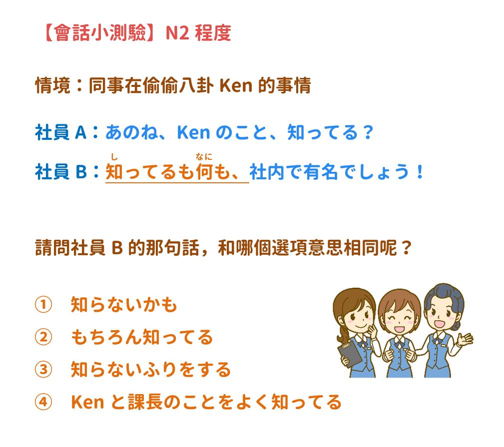 【N2】知ってるも何も? | 音速語言學習(日語)